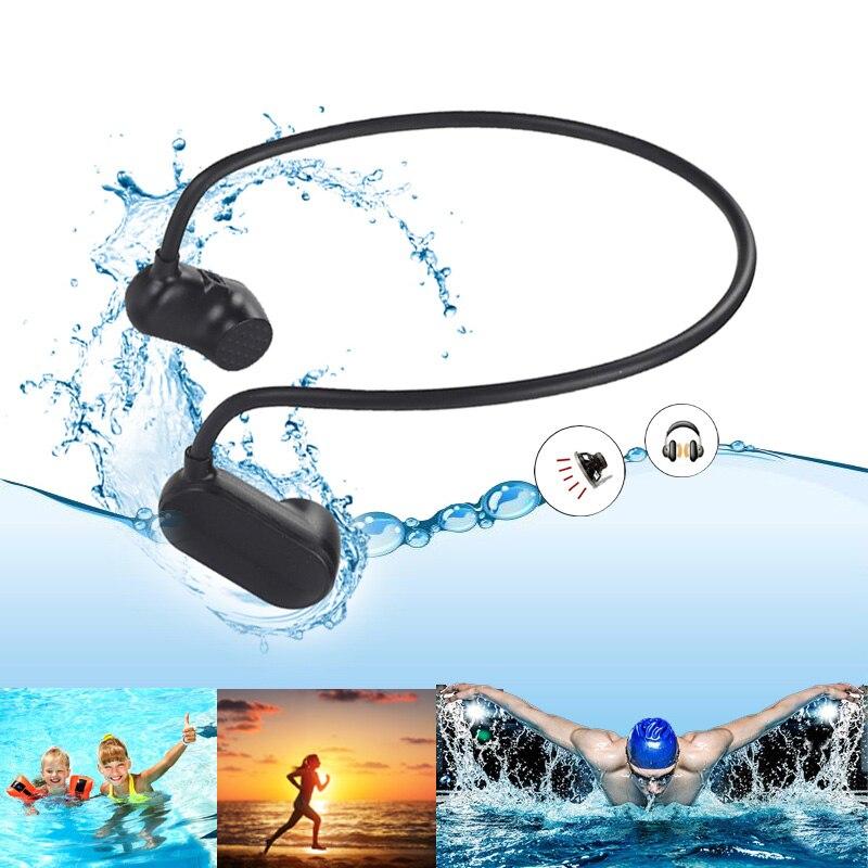 Reproductor Mp3 Digital resistente al agua para natación, estéreo, deporte, música, función Bluetooth opcional V31