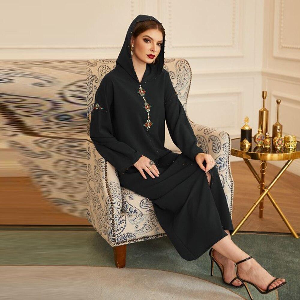 دبي عباية تركيا حجاب فستان مسلم عبايات اسلام ملابس فساتين افريقية للنساء رداء موسلمان دي مود دجلابا فيم عمان