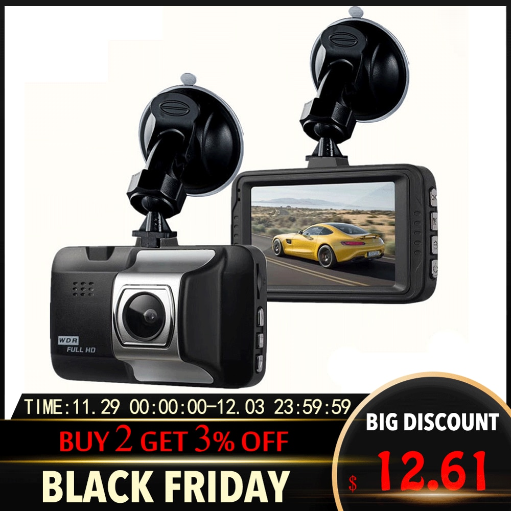 Автомобильная Запись вождения 1080P HD Автомобильная камера Запись вождения широкоугольный видеорегистратор Автомобильный видеорегистратор с функцией ночного видения Автомобильный g-сенсор ABS