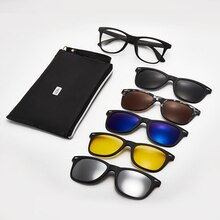 2021 New Trends Office Anti Blue Light Retro Computer 5 Sets Square Glasses Polarized Sunglasses Mal