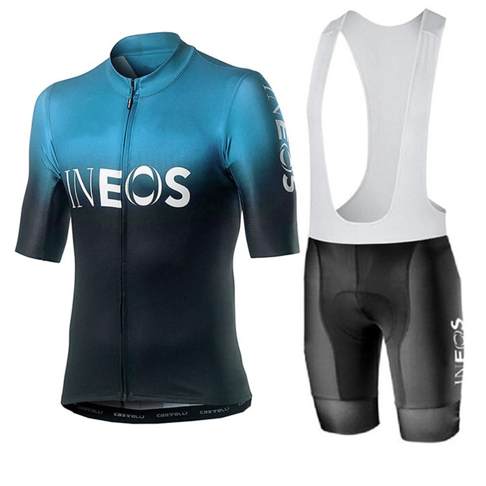 INEOS 2020 go Conjunto de Jersey de ciclismo profesional transpirable carreras deporte MTB ciclismo Jerseys hombres ropa ciclismo hombre