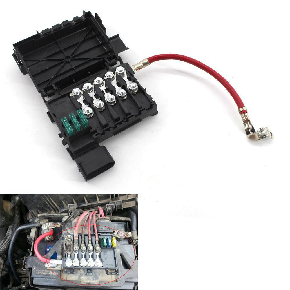 Fuse Box Battery Terminal for VW Jetta Golf Mk4 Beetle 1J0937550A/B Black