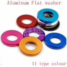 10-20pcs/lot  M3 M4 M5 M6 M8 Corlorful Aluminum Flat Gasket washer for RC part