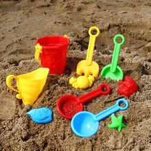 Kinder Sand Strand Spielzeug Burg Eimer Spaten Schaufel Sandkasten Rake Wasser Tools Set Formen Lustige Werkzeuge ungiftig Und durable Strand Spielzeug