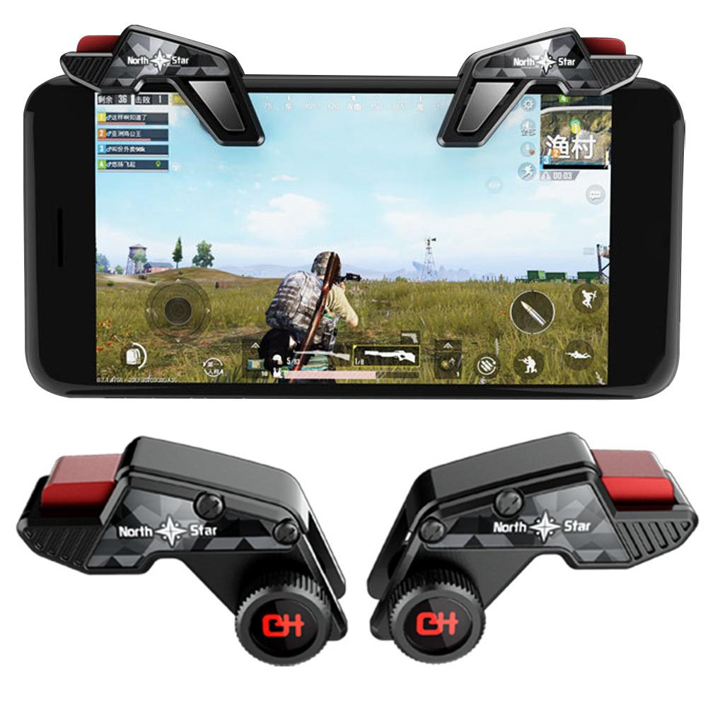 Gaming Accessories 2Pcs S8 Mobile Phone Game Controller Fire Button Trigger Handle for PUBG Sensitiv