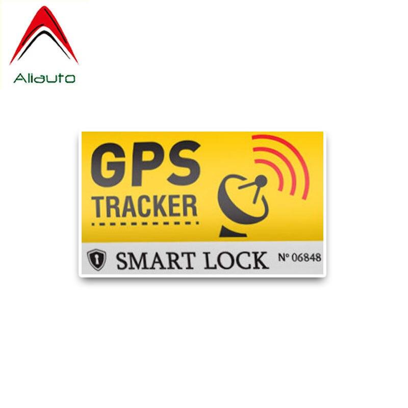 Aliauto Creative Warning Car Sticker GPS Tracker Decals Smart Lock Sunscreen Reflective Anti-UV Decal PVC Decoration,10cm*6cm