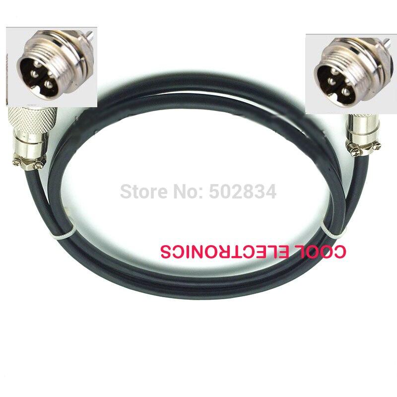 2m GX16 16mm enchufe de aire macho a macho conector circular Cable de enchufe 2P 3P 4 Pin 5P 6 pin