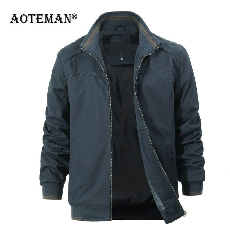Мужская куртка-бомбер 6XL, деловые пальто, хлопковая приталенная верхняя одежда, мужская одежда, модная повседневная мужская куртка на весну ...