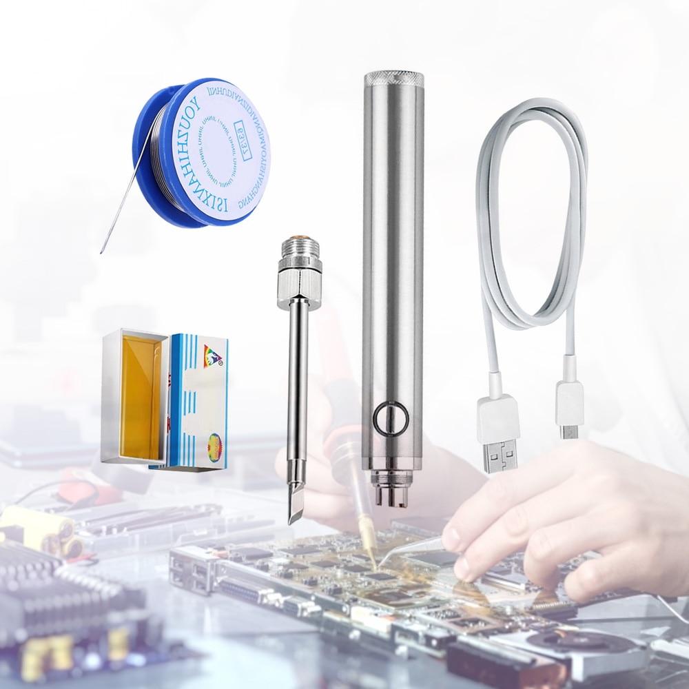 Беспроводные паяльники, перезаряжаемый Электрический паяльник с прямой зарядкой через USB, 6 секунд, разъем 510, сварочное оборудование, након...
