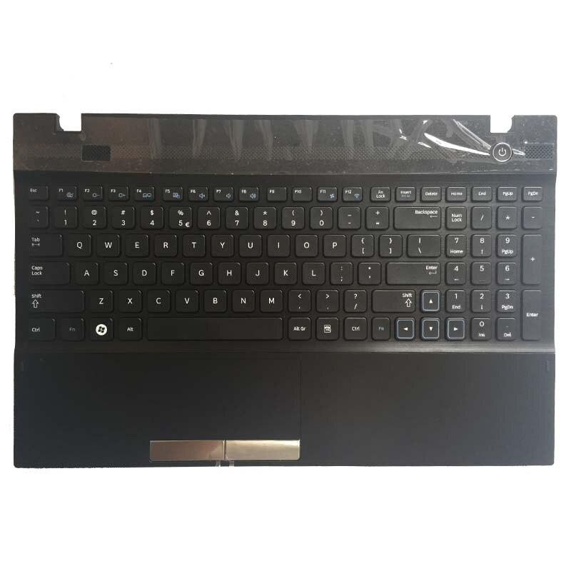 Новая клавиатура для samsung NP300V5A, NP305V5A, 300V5A, 305V5A, клавиатура для ноутбука США с крышкой, черная, BA75-03502E