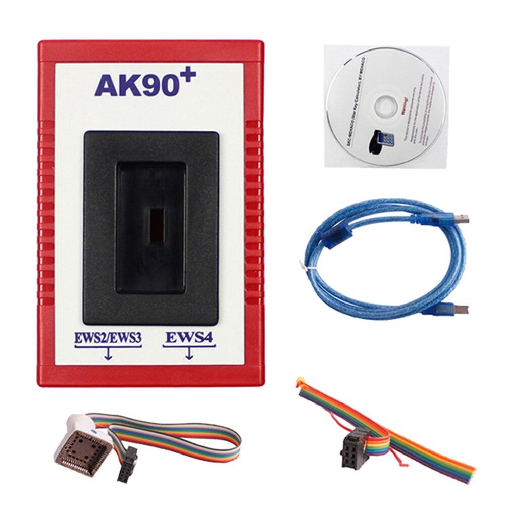 Ferramenta programador chave do carro ferramenta de diagnóstico do carro profissional ak90 + v3.19 jogo para bmw ews ak90 ferramenta de diagnóstico