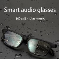 ddj intelligent audio bluetooth glasses sunglasses outdoor sports waterproof noise cancelling stereo with mic wireless headset