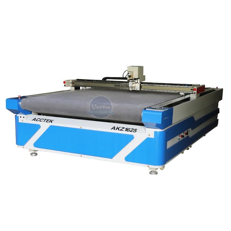 Дешевый ЧПУ генераторный нож AccTek 1625, автоматическая машина для резки Тканевого слоя одежды
