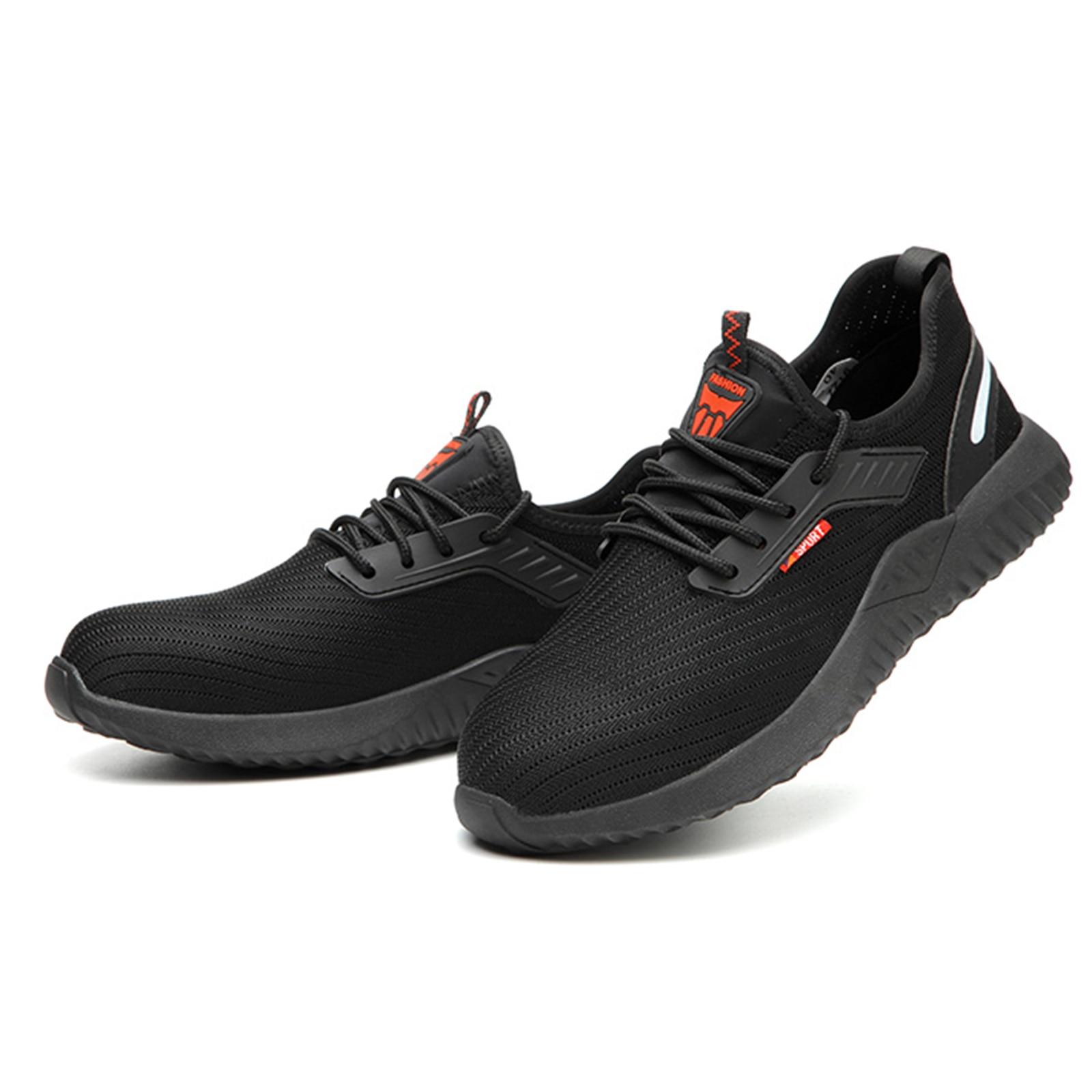 الصلب أحذية سلامة بفتحة لأصبع القدم العمل حماية أحذية للرجال النساء العمل أحذية رياضية تنفس خفيفة الوزن الصناعية والبناء