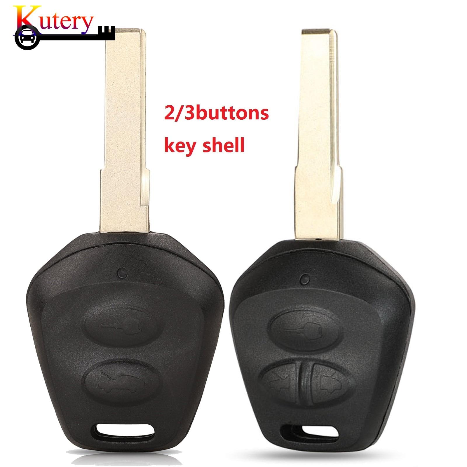 Kutery, carcasa de la llave a distancia con 2/3 botones, llavero de ajuste para Porsche Box-ster S 986 911 996 con cuchilla