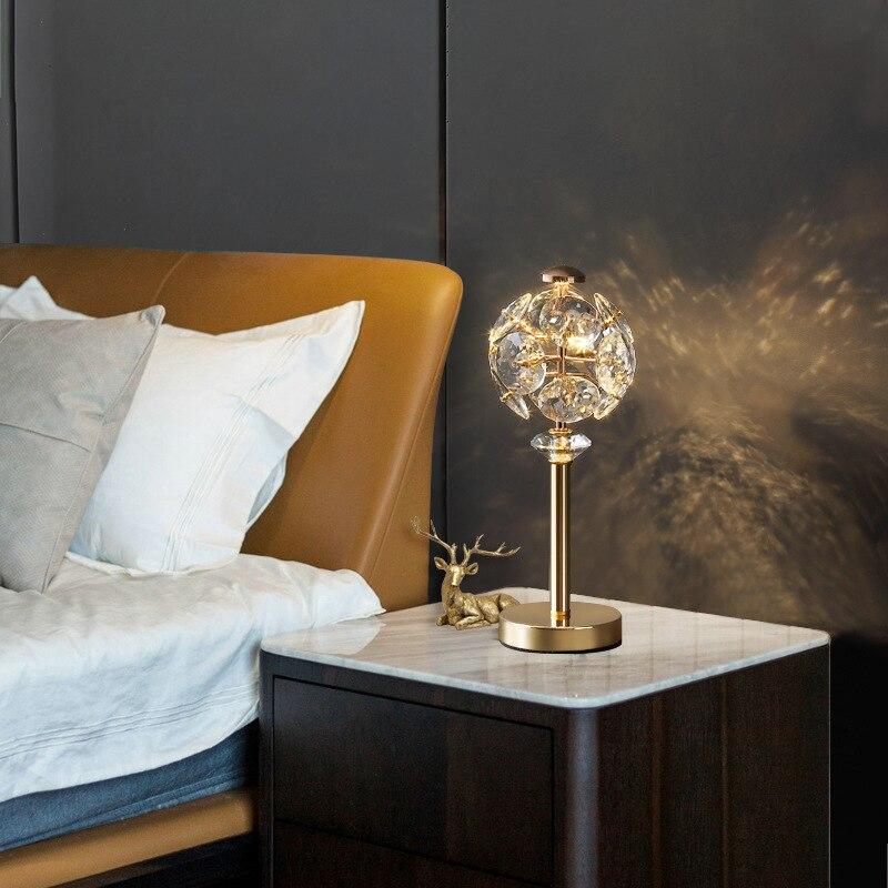 Bedroom Bedside Lamp Living Room Creative Lamp Study Crystal Desk Lamp enlarge