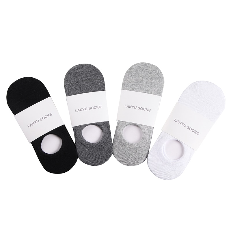 Men Cotton Socks Summer Breathable Invisible Boat Socks Nonslip Loafer Ankle SockLow Cut Short Sock Male Sox Sports Socks summer invisible socks hemp bamboo short breathable ankle toe happy funny men s sports business white stripes cotton harajuku