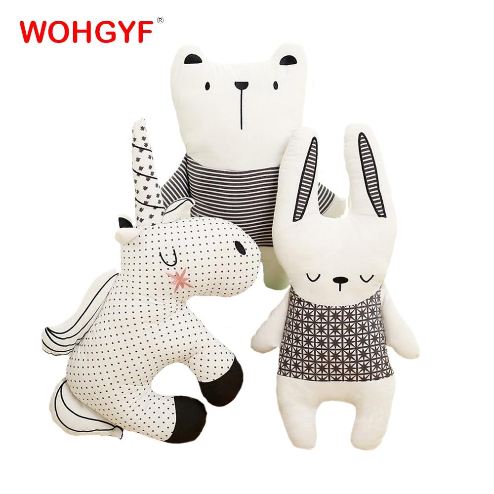 1pc Kawaii Unicorn Plush Pillow Stuffed Plush Pillow Bear Rabbit Unicorn Cushion Toys Cute Animals Pillow Kids Gifts