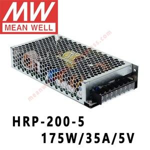 Mean Well HRP-200-5 meanwell 5V/35A/175W DC с одним выходом с PFC переключатель функций сетевым магазином