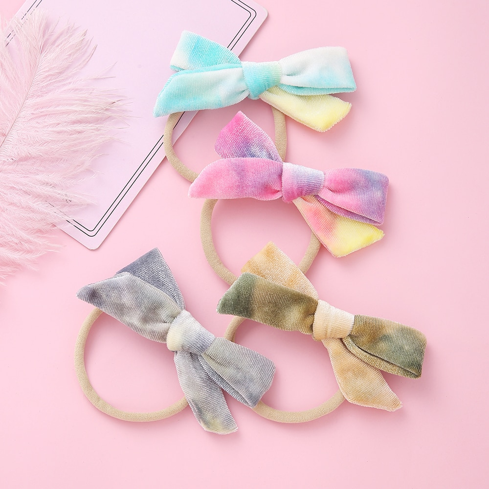12 pcs set fashion kids elastic hair bands rubber headbands soft fabric cartoon girls headwear children hair accessories 1 pcs Lovely Bow Princess Headwear Baby Girl Headdress Children Hair Ropes Girls Hair Accessories Kids Elastic Hair Bands