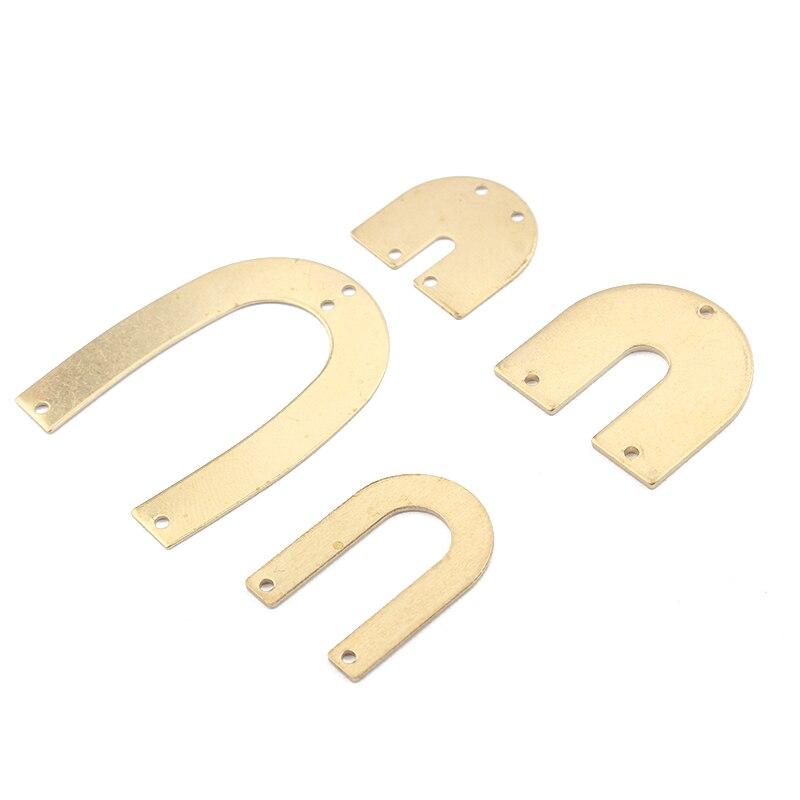 1 pacote encantos u forma aberta ferradura forma pingente conector de bronze cru jóias moda brinco pulseira jóias fazendo