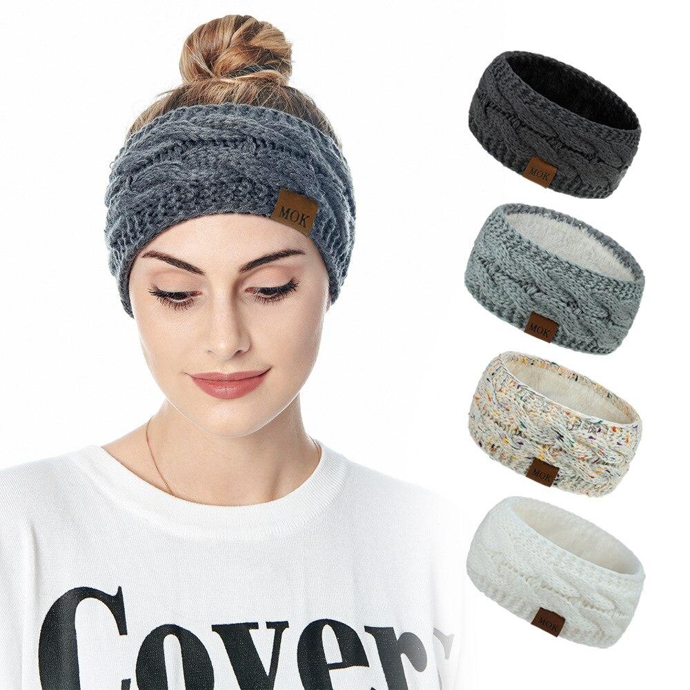 Обогреватель для ушей, повязка на голову, женская вязаная повязка на голову, зимние массивные обогреватели для ушей, подходит для повседнев...