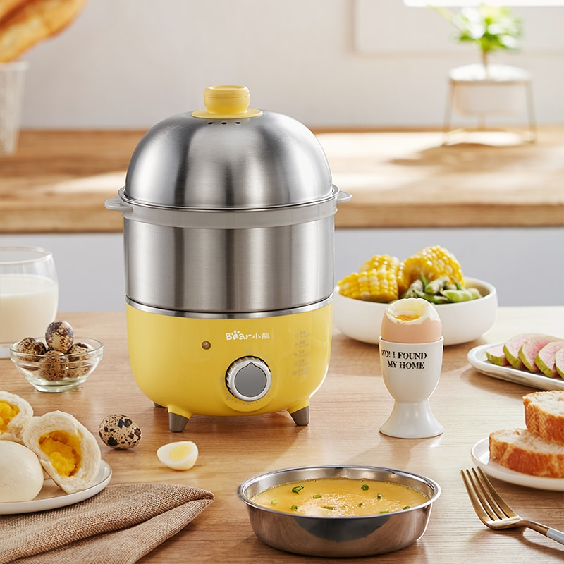 Cocina de Vapor Eléctrica para el hogar de 220V, cocina múltiple de acero inoxidable, 2 capas eléctrica de vaporera, olla de vapor para huevos