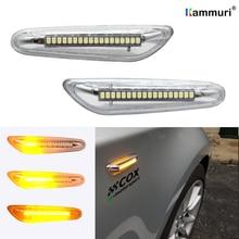 2 adet gümüş beyaz LED yan işaretleyici dönüş sinyali göstergesi 16 LED flama BMW E46 E36 E90 E91 E60 e61 E81 E82 E87 E88 E92 E93