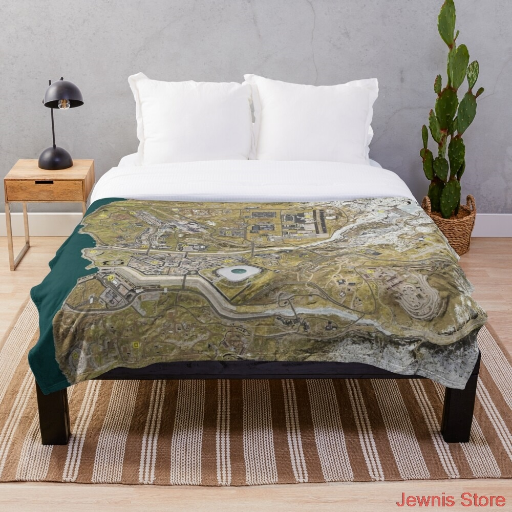 COD WARZONE MAP Throw Blanket Throws for Girls Boys Children's Kids Adult Gift Home Bedroom Decoration Flannel