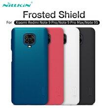 Para xiaomi redmi Note 9 9s capa Note 9 pro caso max nillkin fosco escudo duro protetor de computador capa traseira para redmi Note 9 pro Redmi 10X 4G caso
