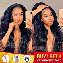 Transparent Body Wave Lace Front Wig Malaysian 13x4 Lace Frontal Human Hair Wigs For Black Women Rem