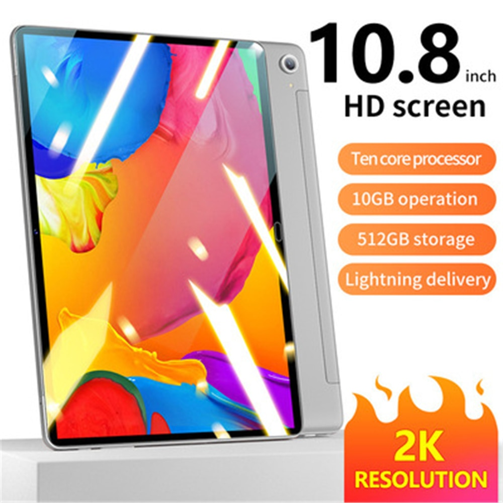 Global Version 10.8 Inch Tablet 4g Call Wifi Android System Hd Eye Protection Screen Gps Bluetooth 10gb+512g Mobile Tablet enlarge