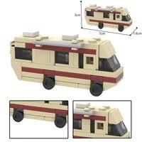 classic american drama movie tv series walter white work car mini model building blocks break ing bad diy bus assembly bricks