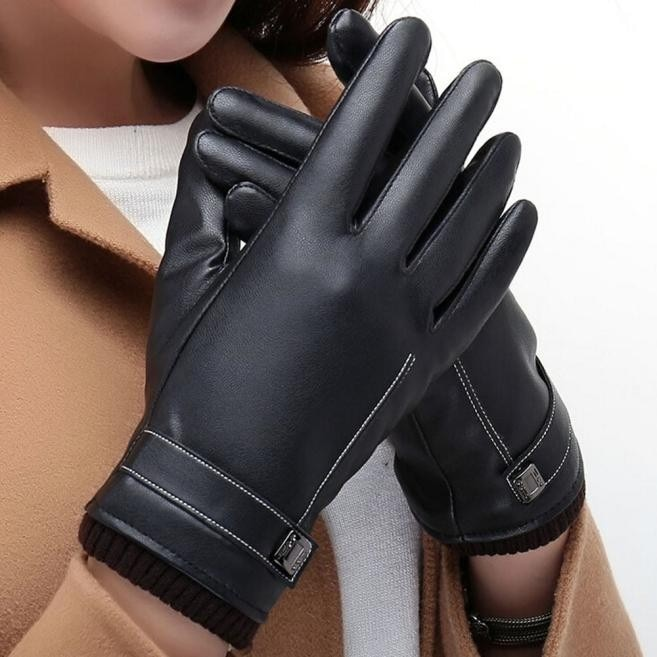 2021 Winter motorcycle Gloves Warm Mittens Men Gloves Windproof Thicken PU leather Tactical Gloves �