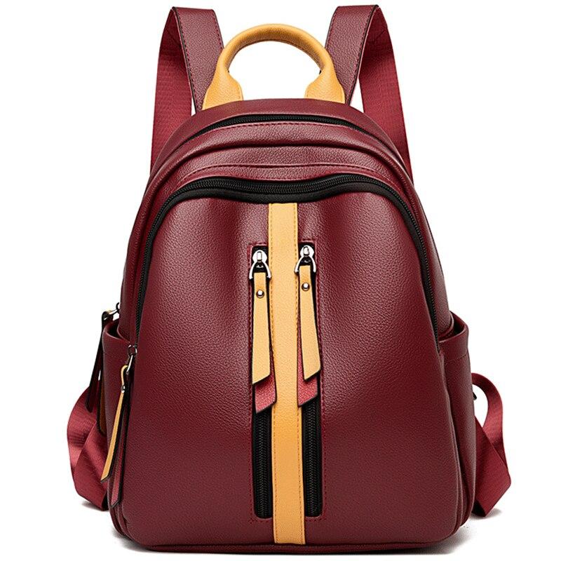 Женские рюкзаки из мягкой кожи, роскошный брендовый женский рюкзак высокого качества, школьные сумки для девочек, рюкзаки для путешествий