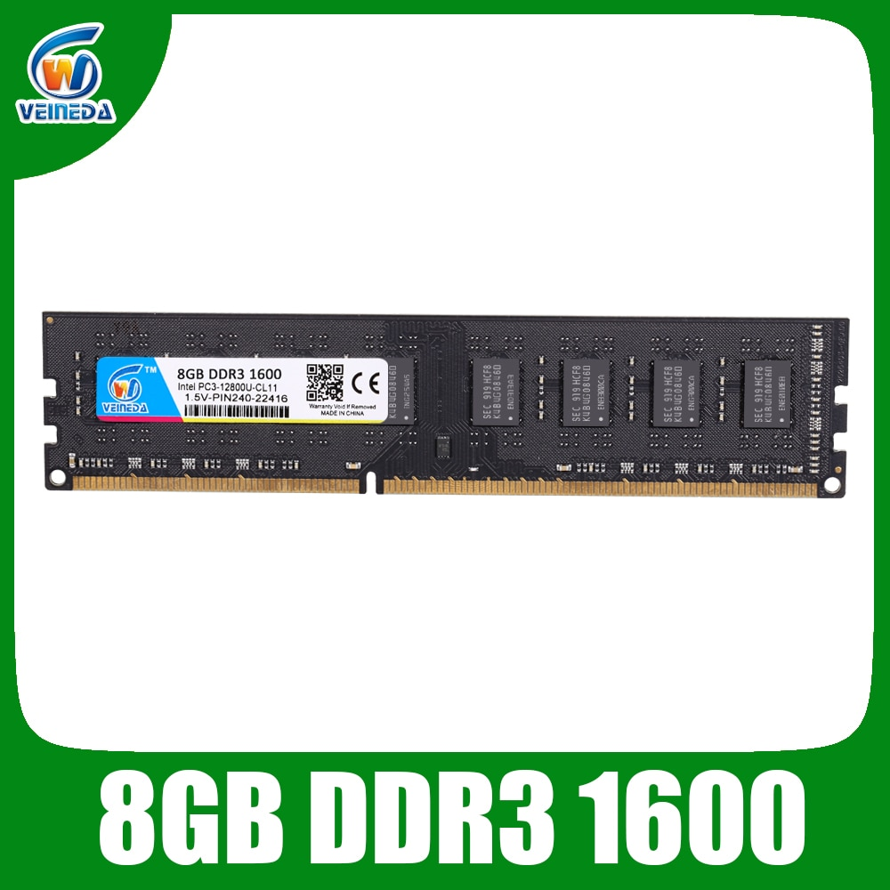 VEINEDA yeni Ram DDR3 8gb 4gb 1600 PC3-12800 Ram bellek 240pin 1.5V tüm Intel ve AMD masaüstü ddr3 1333 Ram