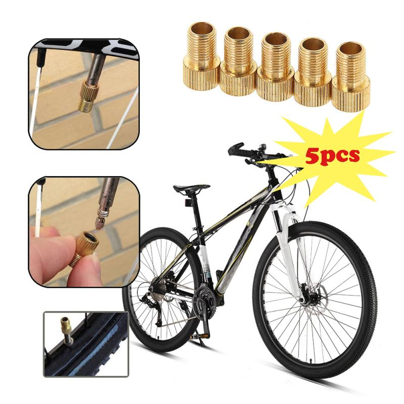 5/10 pçs válvula de bicicleta roda pneu transfer válvula adaptador presta para schrader cinverter bicicleta estrada ciclo tubo punp bicicleta acce