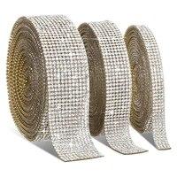 5 meters crystal clear rhinestone trim sew on rhinestone chain self adhesive rhinestones diy shoes clothing decoration