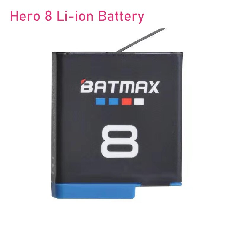 Original Batmax für Gopro Hero 8 Li-Ion Batterie Schwarz Hero 8 Schwarz GoPro Hero 7 Cam Akku + LED USB ladegerät