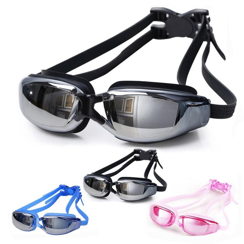 2020 New Swimming Goggles Antifog UV Protection Glasses Waterproof Silicone Swim Adult Water Eyewear