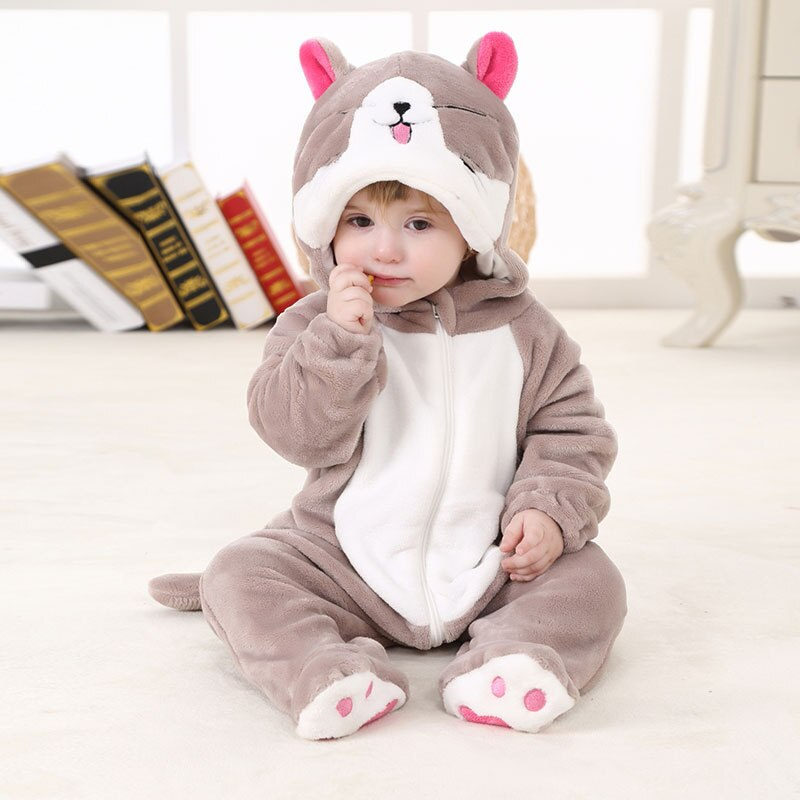 SALEROAD bebé mapache Kigurumi Animal dibujos animados Cosplay disfraz Infantil Niño mono Onepiece Onesie franela cómoda kigurumi