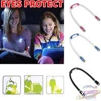 swt flashlight camping light s7 flexible handsfree led neck light book reading lamp night