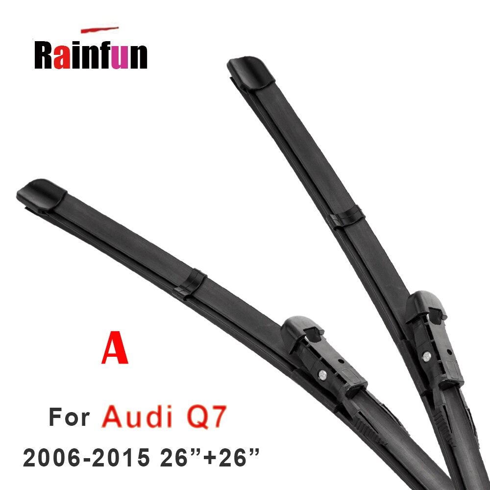 "RAINFUN limpiaparabrisas delantero y trasero para AUDI Q7 (06-17), B-14P B-14Q de brazo trasero, limpiaparabrisas traseros de 14"""