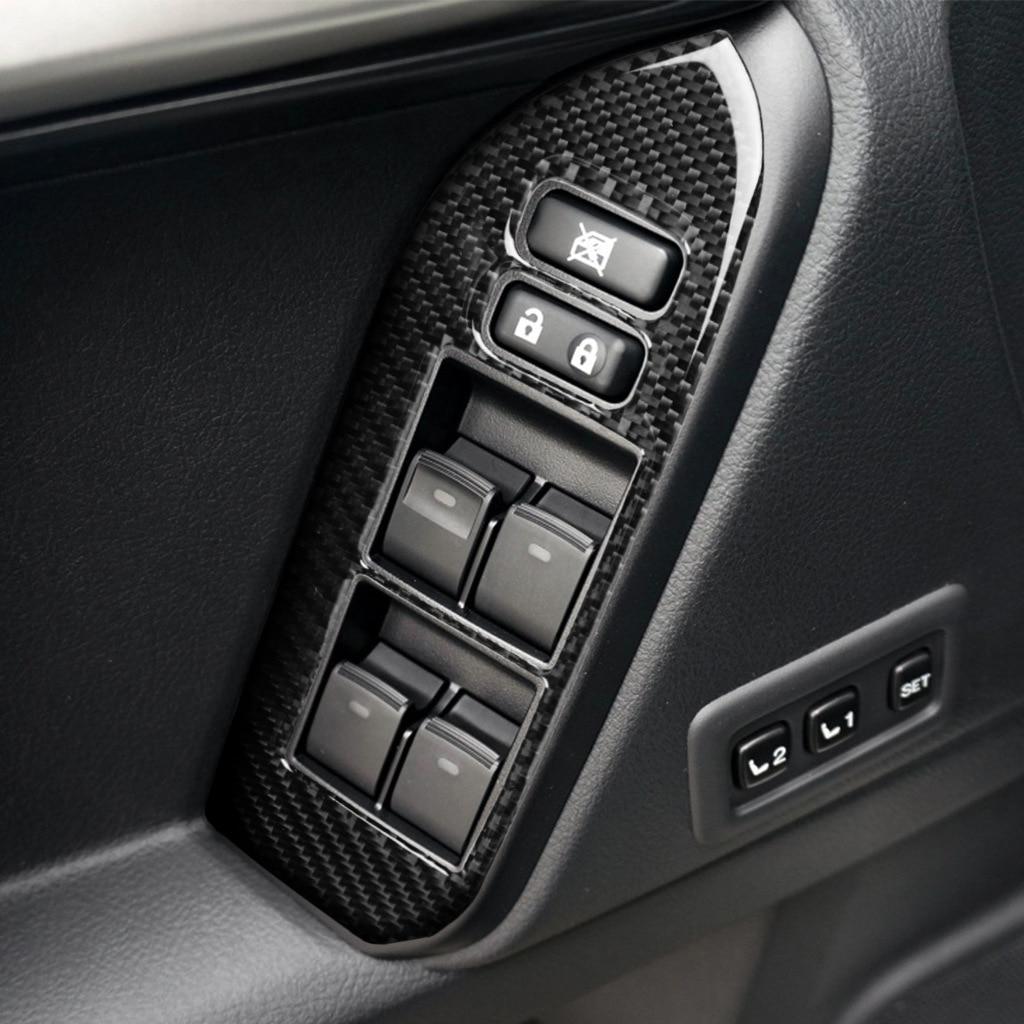 Carbon Fiber Power Window Switch Cover Trim Cover for Toyota Land Cruiser Prado For Toyota Land Cruiser Prado enlarge