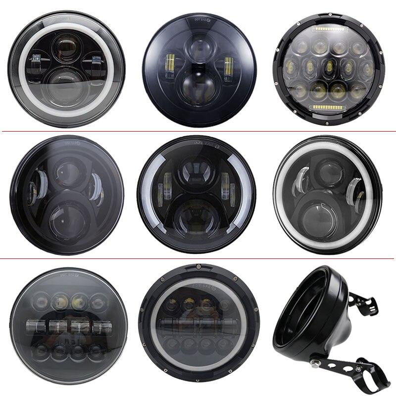 7 luzes do carro Branco/Âmbar levou auréola farol lente do projetor 7 polegada caixa balde Anel de Acabamento para a Motocicleta yamaha Honda CB400