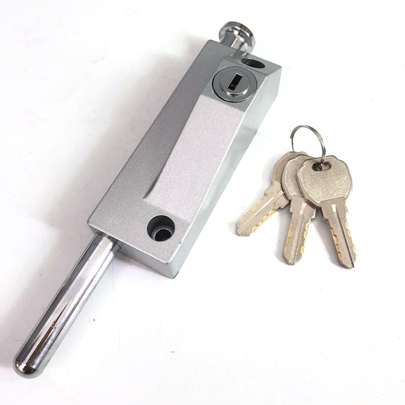 Sliding Door Bolts Security Anti-Theft Latch Revolving Glass Door Flat Key Locks Garage Home Hardware Heavy duty Security Lock