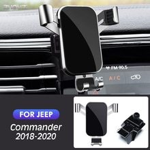 Car Mobile Phone Holder GPS Stand Gravity Navigation Bracket Accessories For Jeep Commander 2018 2019 2020 Air Vent Outlet Clip