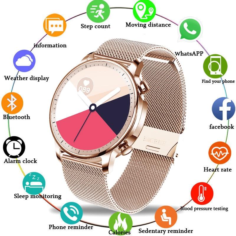 Relógio de Fitness Masculino à Prova Display para Android Lige Senhoras Relógio Inteligente Feminino Smartver Dwaterproof Água Música Tempo Ios Reloj