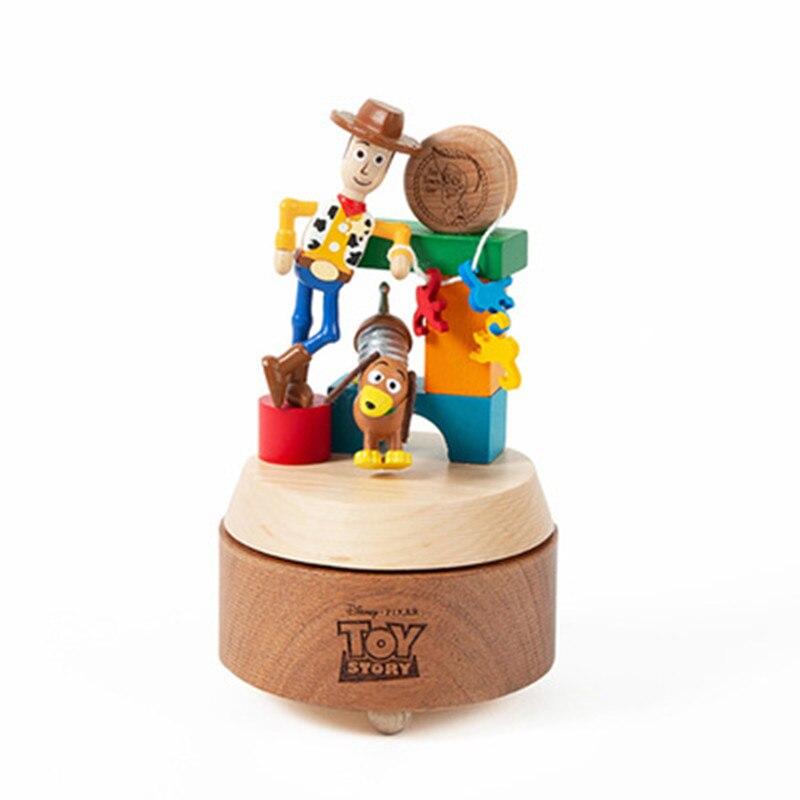Disney Toy Story Woody Slinky Dog Mini Music Box Movies Action Figure Children Bedroom Desktop Decor Birthday Gift X5738