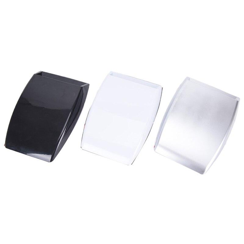 Decoración de coche de estilo decorativo Universal plateado/Blanco/Negro, 3 colores, cuchara de entrada de flujo de aire respiradero de capó tipo Turbo, Capó